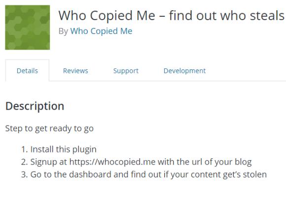 Cómo detectar cuando te copian contenido con Who Copied Me