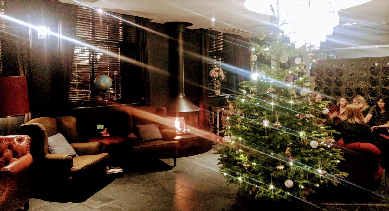 A Grown-Up Festive Weekend in Ouseburn - hotel du vin christmas tree