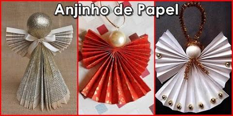 Anjinho de papel para lembrancinha e decoração de Natal