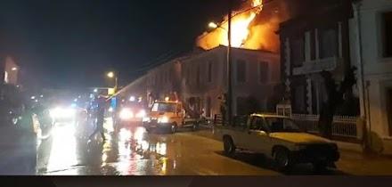 Φωτιά σε αρχοντικό στη Λέσβο - «Χτυπήθηκε» από κεραυνό