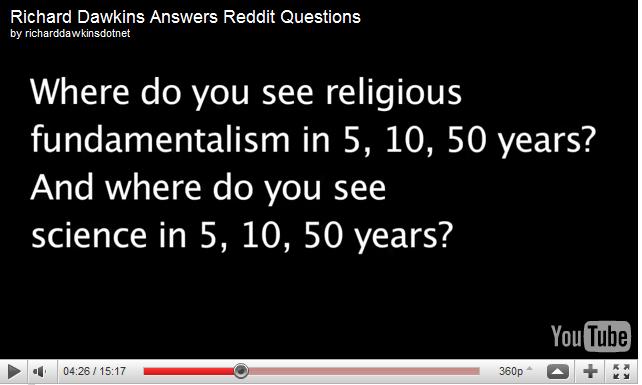 Religion versus science richard dawkins and