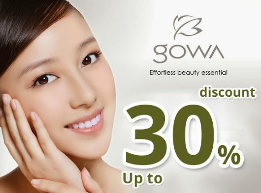 Promotion Up to 30% ~ Gowa Natural Skin Care & Cosmetic Products