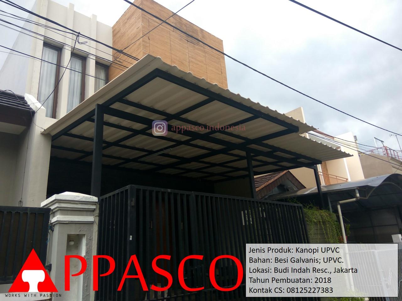 Kanopi UPVC Besi Galvanis di Budi Indah Residence Jakarta