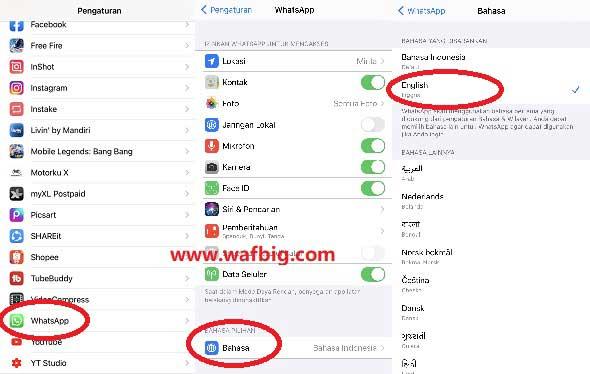 Cara Mengubah Bahasa Indonesia Ke Inggris Di Whatsapp iphone