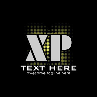 Letter XP Halftone Logo Template Free Download Vector CDR, AI, EPS and PNG Formats