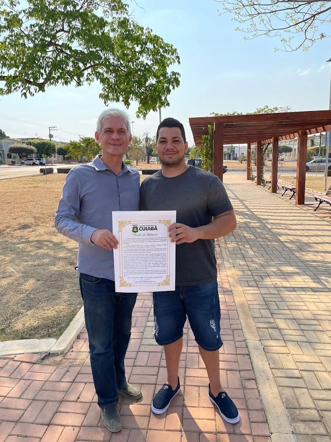 Bendev Junior recebe moção de aplauso da Câmara de Vereadores de Cuiabá