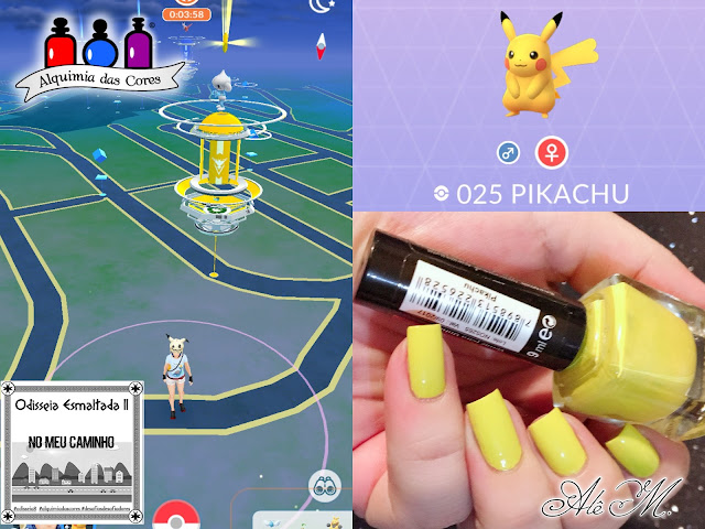 Odisseia Esmaltada II, Primeira Etapa, Pokemon, Pikachu, La Femme, Cremoso, Amarelo, Alê M 2018, Alquimia das Cores