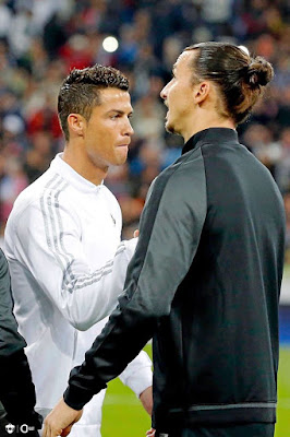 """#Zlatan #Ibrahimovic on #Cristiano #Ronaldo: """" He signed for a team that won the series a seven times in a row. Going to a club like this is not a challenge. If he wanted a challenge, he had to sign to juve when she was in serie B and bring her back to the top. """" (GQ). #CR7"""