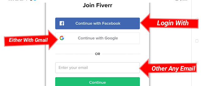 Login with Fiverr