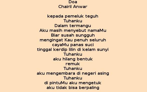 Doa Karya Chairil Anwar