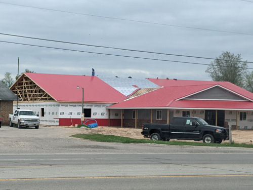 new red metal roof