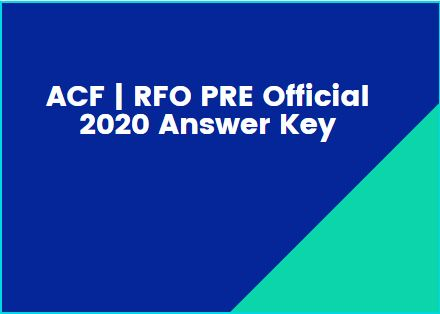 UPPSC Prelims | ACF | RFO PRE Official 2020 Answer Keys Download Now All Set