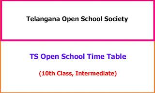 Telangana Open School Exam Time Table 2021