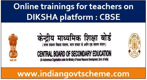Online trainings for teachers on DIKSHA
