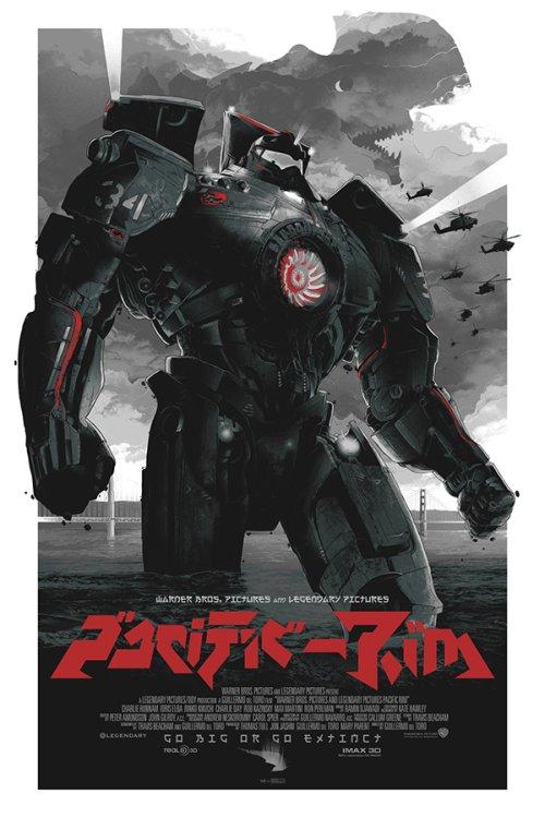 Grzegorz Domaradzki ilustrações cartazes pôsteres filmes arte cinema Pacific Rim (Círculo de Fogo)