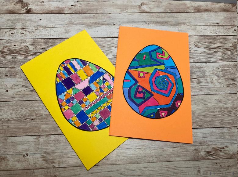 Paul Klee easter egg template for kids