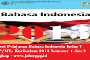Materi Pelajaran Bahasa Indonesia Kelas 7 SMP/MTs Kurikulum 2013 Semester 1 dan 2 Lengkap