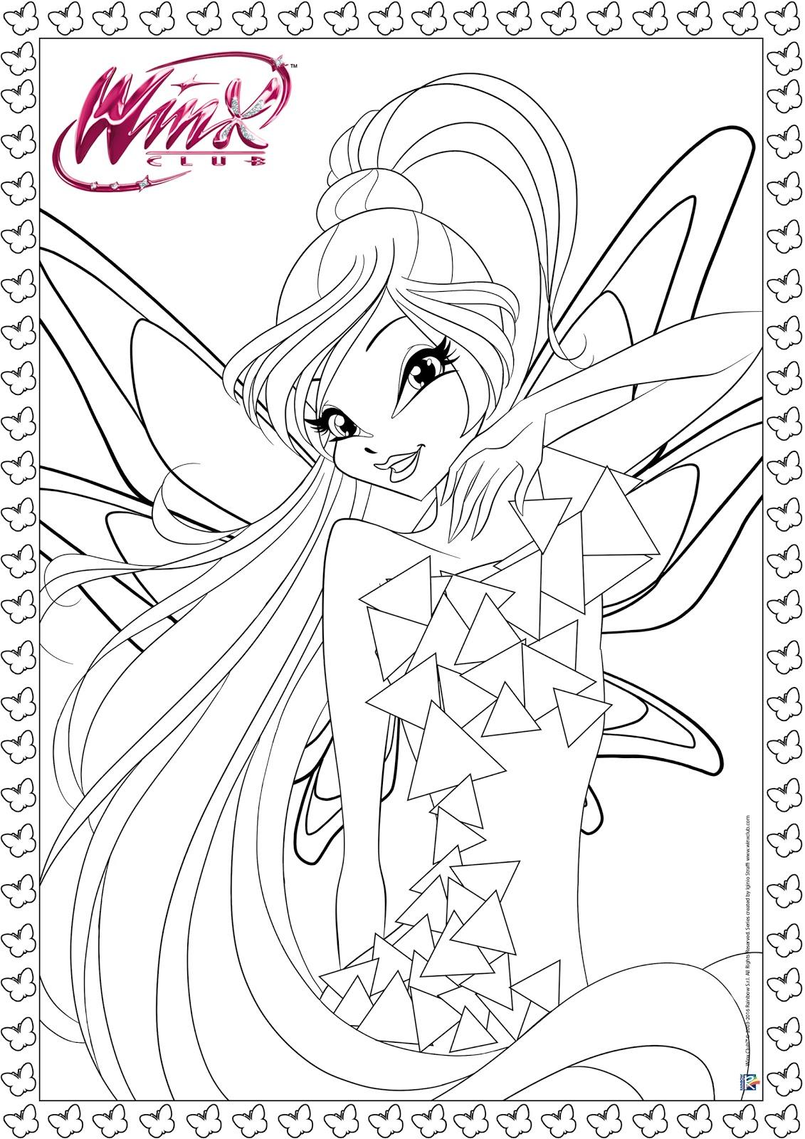 Imprime y Colorea al Winx Club Tynix ~ My Winx Club Pretty!*.