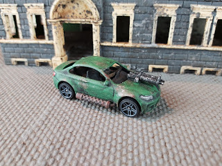 A toy car used in Gaslands