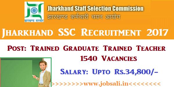 JSSC Vacancy, JSSC Teacher Vacancy, Govt jobs in Jharkhand