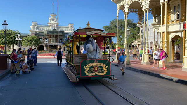 Character Cavalcades, Disney Magic Kingdom Reopening Preview, Main Street, U.S.A. Re-imagined Meet and Greets Winnie the Pooh Piglet, Eeyore, Rabbit , New Safety Precaution and Social-distancing Practice