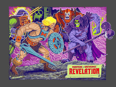 Masters of the Universe: Revelation Variant Screen Print by Florian Bertmer x Mondo