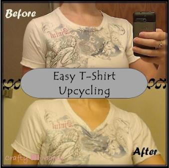 24c716d19 Crafty WI Mama: 5 minute DIY Upcycle mini-project - Tshirt neckline redo