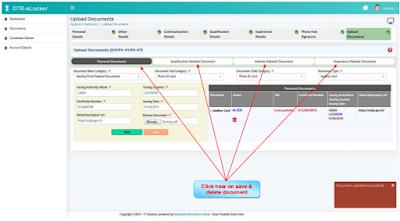 UPSSSC OTR Registration e-Pariksha & e-Locker page15  (After E-Verification Generate e-Locker ID)