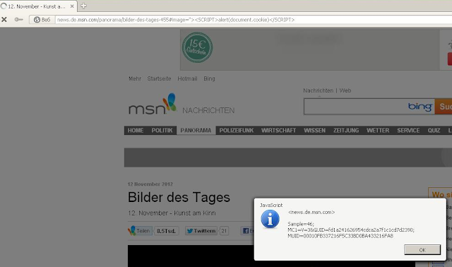 Inj3ct0r Team found XSS Vulnerability on MSN website
