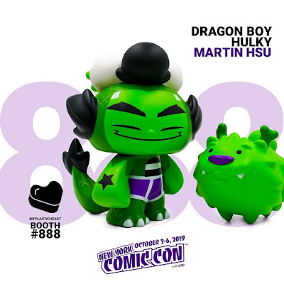 "New York Comic Con 2019 Exclusive ""Hulky"" Dragon Boy Vinyl Figure Set by Martin Hsu x myplasticheart"