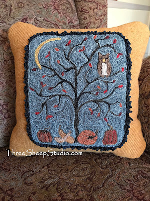 'Fingernail Moon' Wool Pillow by Rose Clay at ThreeSheepStudio.com