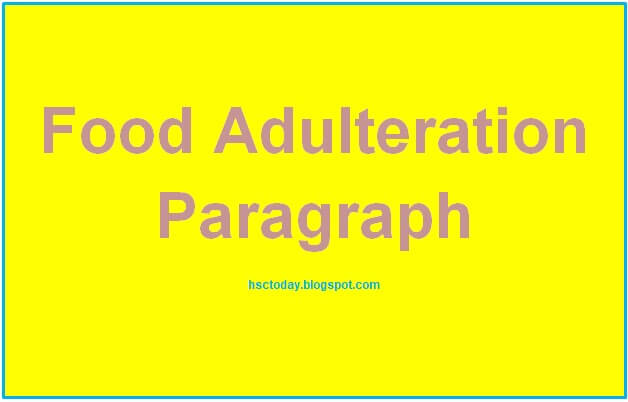 an essay on food adulteration