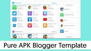Pure APK Responsive Blogger Template Download - Responsive Blogger Template
