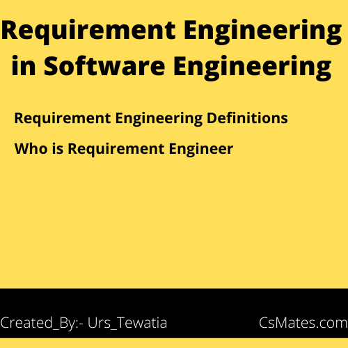 requirement engineering in software engineering