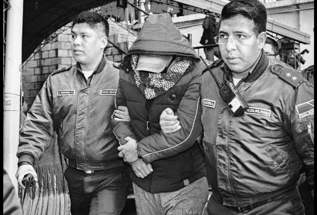 Rivera al ser trasladado al penal de San Pedro el 18 de mayo de 2018 / ARCHIVOS