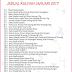 Jadual Kuliah Ustaz Azhar Idrus (UAI) Januari 2017