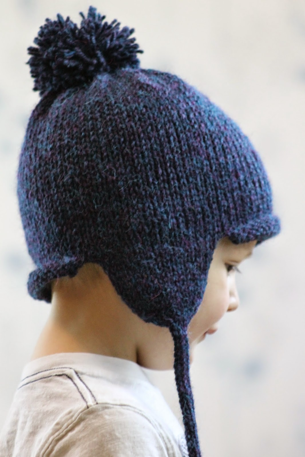 Knitting Pattern For Infant Hat With Ear Flaps : Balls to the Walls Knits: All in the Family Earflap Hat