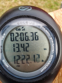 Image:  Watch showing finished time of 2:06:36