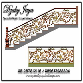 Gambar desain balkon besi tempa klasik terbaru Dzaky Jaya.