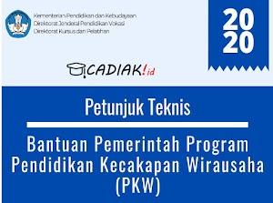 Juknis Bantuan Pemerintah Program PKW (Pendidikan Kecapakan Wirausaha) 2020 Terbaru Lengkap