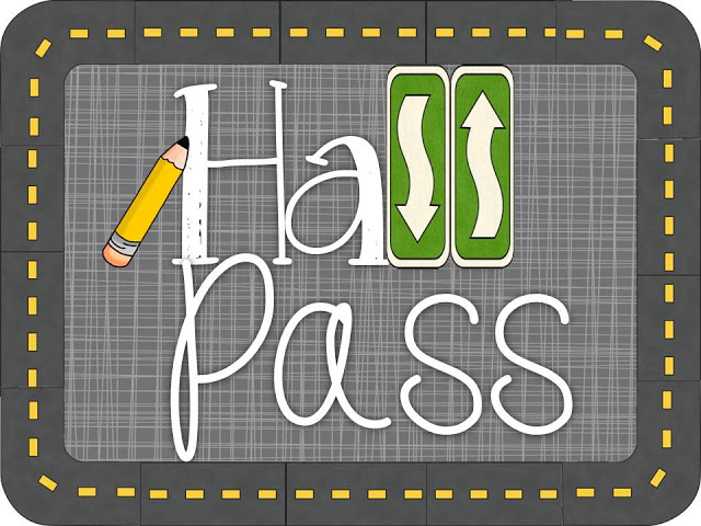 Hall Pass - A Teeny Tiny Teacher
