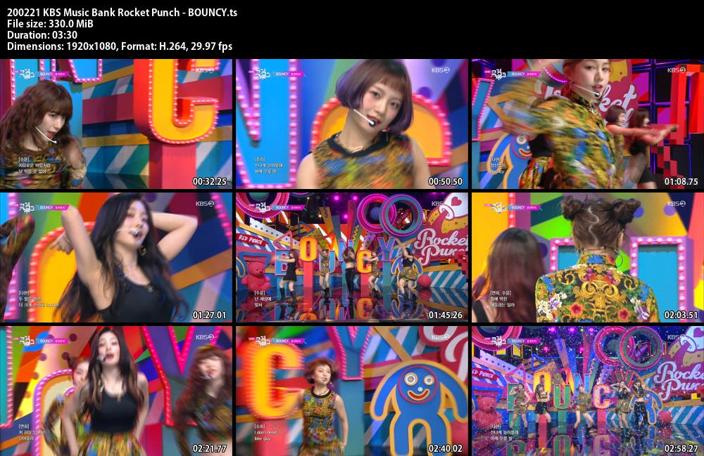 Music Bank ,1080p , Kpop, 2020 , Rocket Punch , BOUNCY