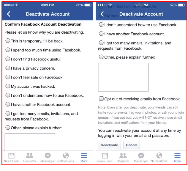 How to delete facebook from mobile youll after that be required to a short study on why youre erasing your facebook account when youre performed with that faucet on deactivate to end up ccuart Image collections