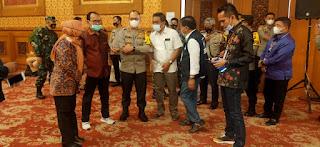 Kapolda Jambi Tinjau Pengamanan Rekapitulasi Penghitungan suara Tingkat Provinsi.