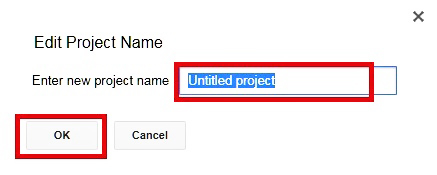 Rename The Project