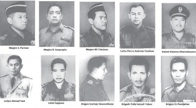 Nama-nama Pahlawan Revolusi Indonesia Yang Gugur Pada G320S PKI