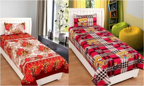 Poly Cotton Single Bed Sheet Combo