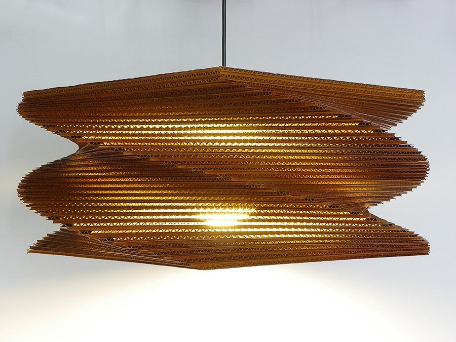 How to Recycle: 19 Amazing Corrugated Cardboard Ceiling Lamps