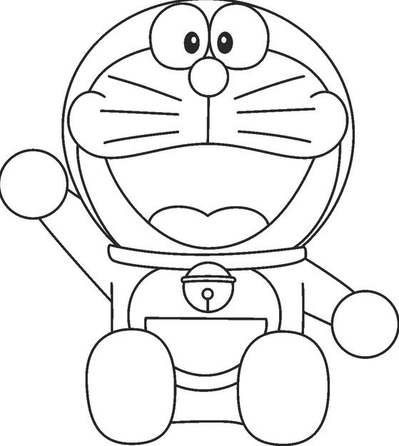 Sketsa Mewarnai Gambar Doraemon