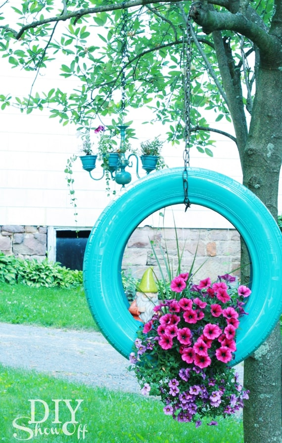 This project is a great way to repurpose tires and add whimsy to any garden